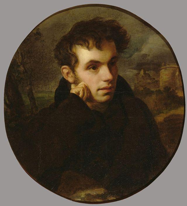 Молодой Жуковский на картине Кипренского. 1816.