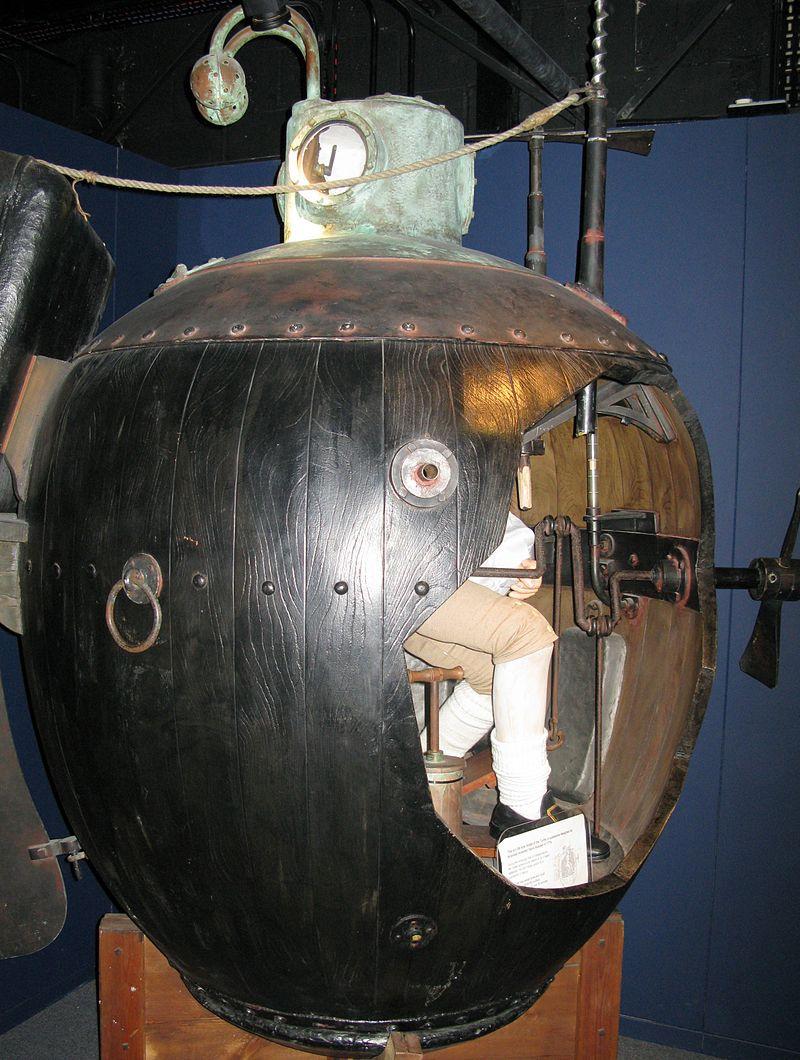 Реконструкция «Черепахи». Royal Navy Submarine Museum (Госпорт, Великобритания)