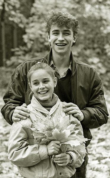 Чемпионы мира в парном катании Екатерина Гордеева и Сергей Гриньков. 1986 год
