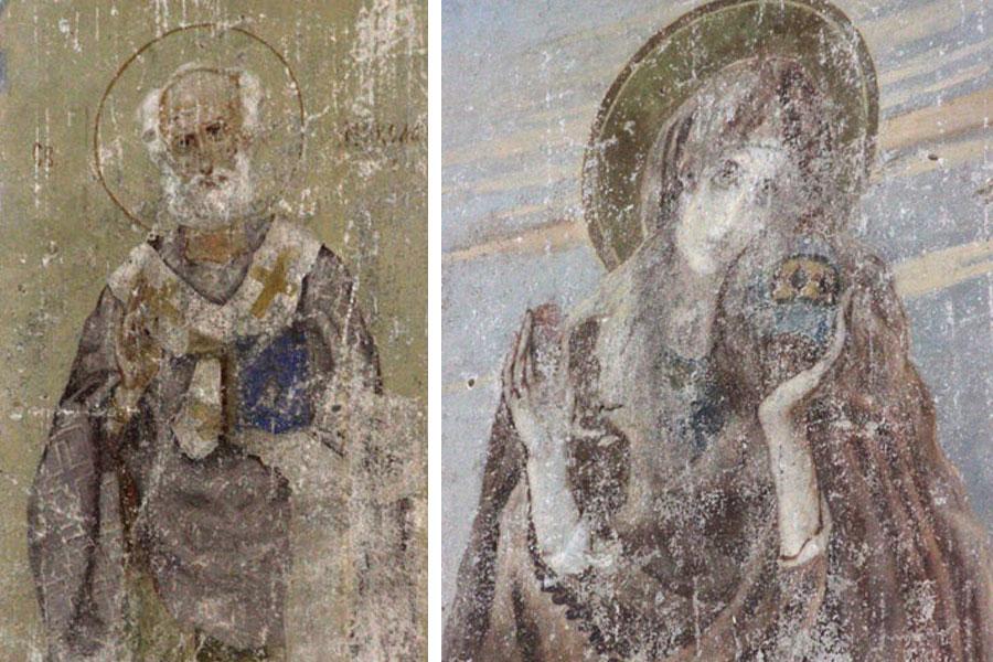 Долгие годы эти фрески приписывали Васнецову.