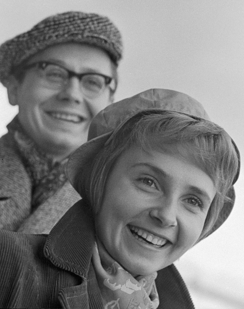 Артисты Людмила Крылова и Олег Табаков. 1964 г.