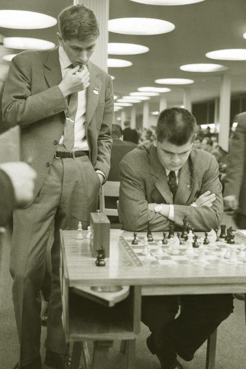Фишер на шахматной олимпиаде в Лейпциге, 1960 год