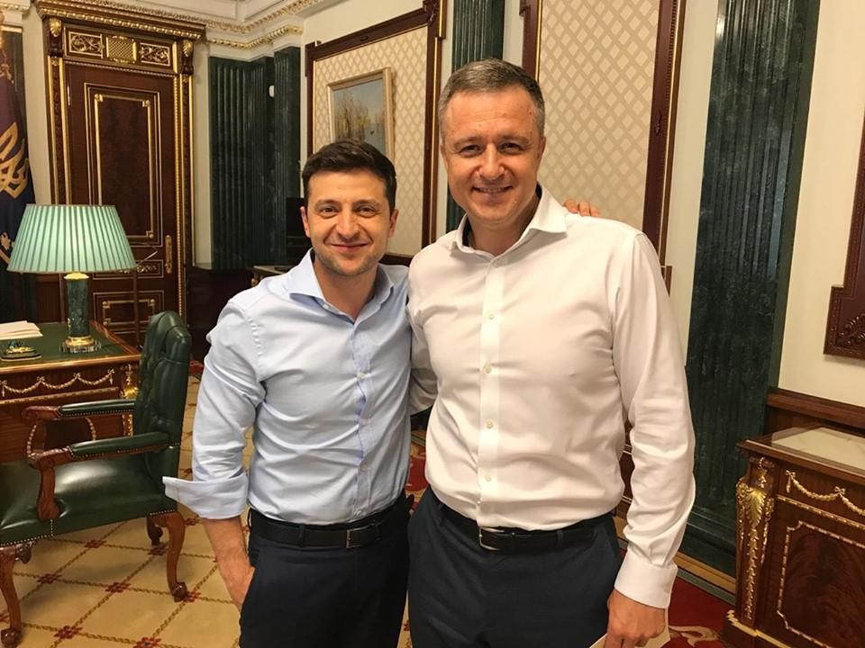 Встреча Зеленского и Кулебы, 2019.