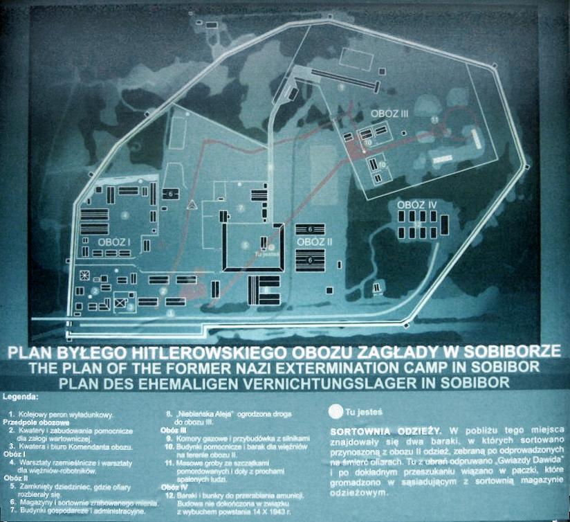 План концлагеря Собибор
