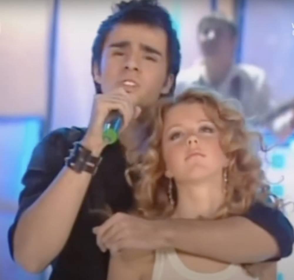 Руслан Масюков и Юлианна Караулова на «Фабрике звезд», 2004 год.
