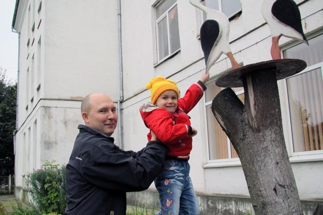 Оля с отцом