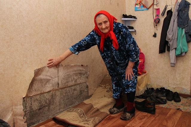 Лидия Гайдукова, жительница аварийного дома