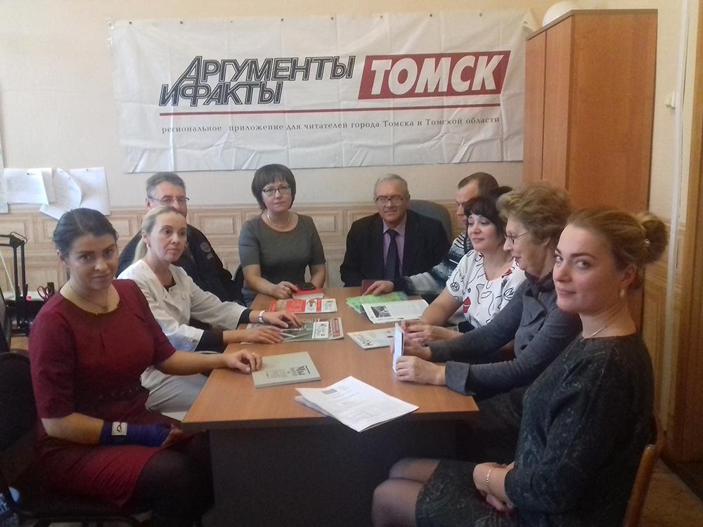 Выездное заседание редакции «АиФ-Томск» и Центра «Здоровье» ОКБ на Асиновском комбикормовом заводе.