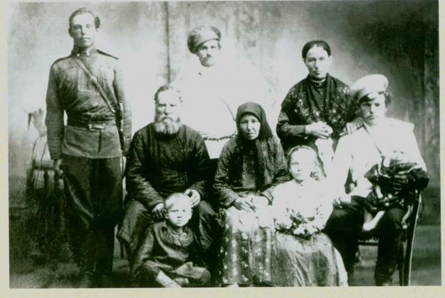 Оренбургская казачья семья.