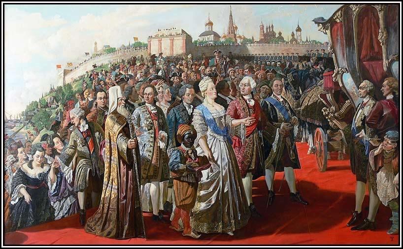 Картина И. Файзуллина Екатерина Вторая в Казани.