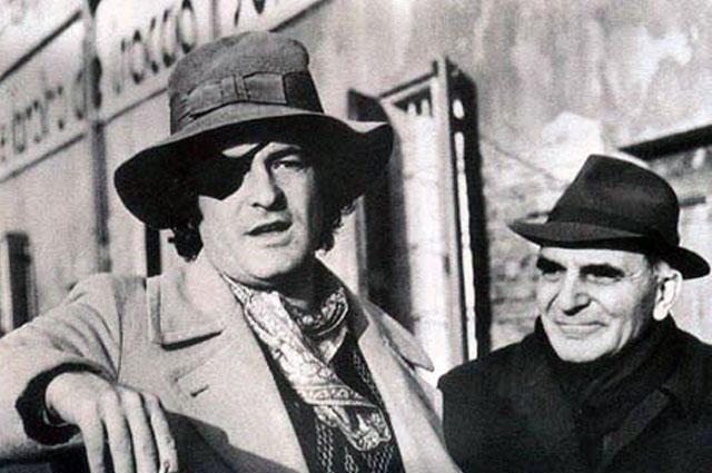 Бернардо Бертолуччи с отцом. 1975 г.