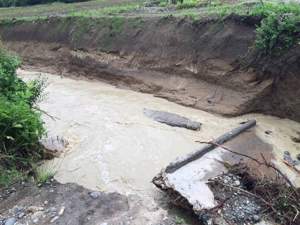 Разрешенный мост в поселке Шунтук.