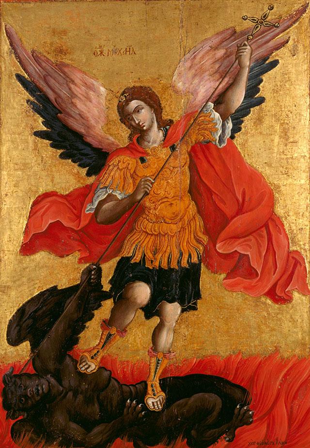 Архангел Михаил на иконе Теодор Поулакис, 2-я половина XVII века.