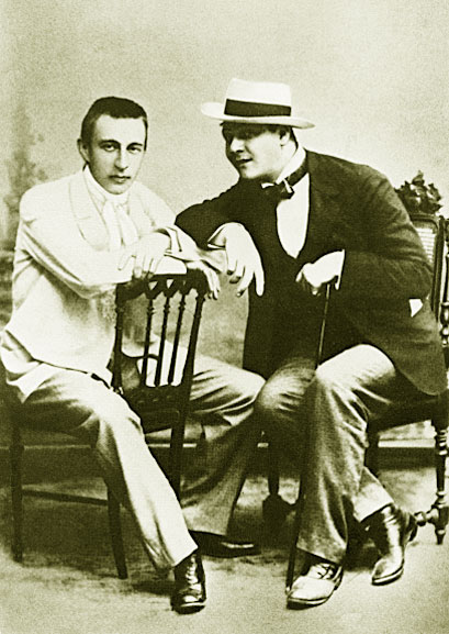 Сергей Рахманинов и Федор Шаляпин. 1916 год