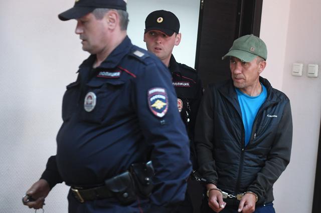 Игорь Подпорин после задержания.