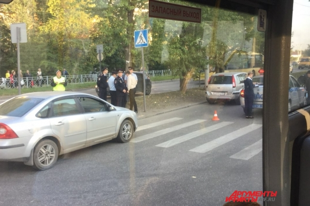 ДТп произошло в районе остановки