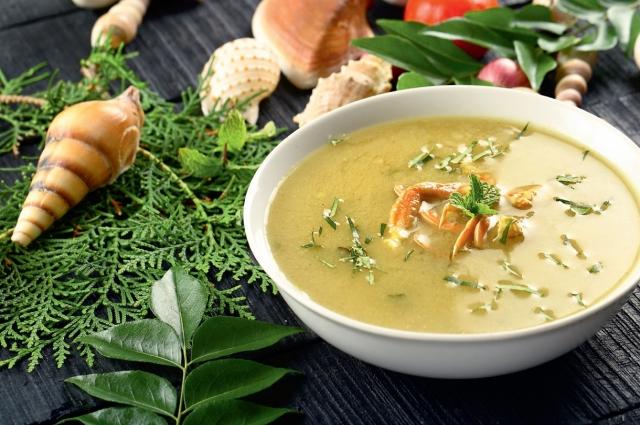 Суп с крабами