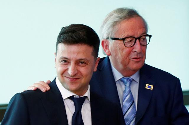 Владимир Зеленский и Жан-Клод Юнкер. 4 июня 2019 г.