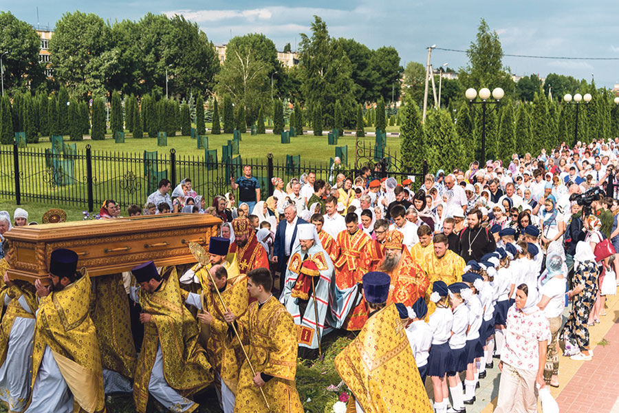 Крестный ход с мощами священномученика Никодима, епископа Белгородского.