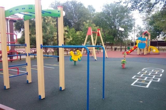 Новая детская площадка в селе Архиповском Буденновского округа.