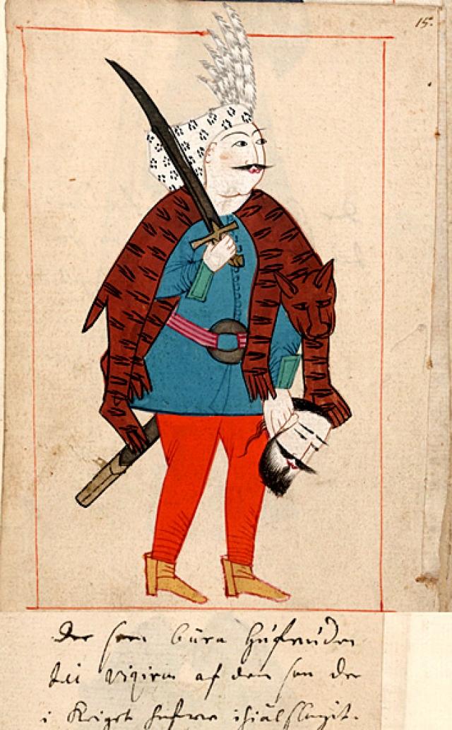 Турецкий солдат XVII века.
