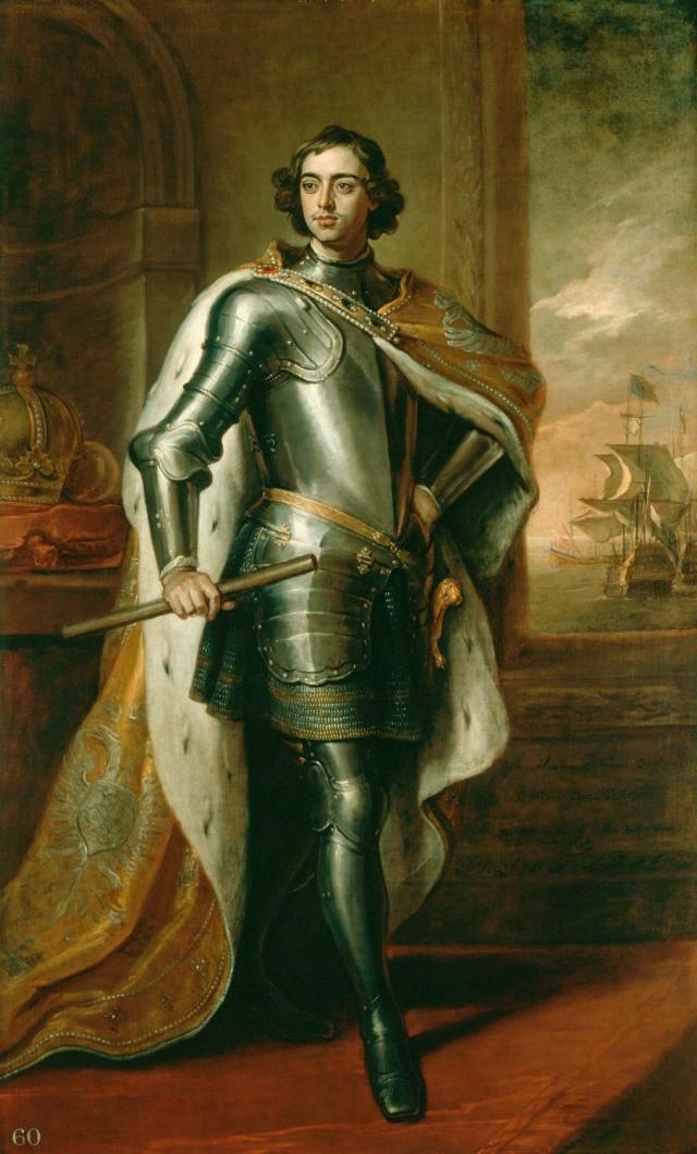 26-летний Пётр I. Портрет кисти Кнеллера был подарен Петром в 1698 английскому королю.