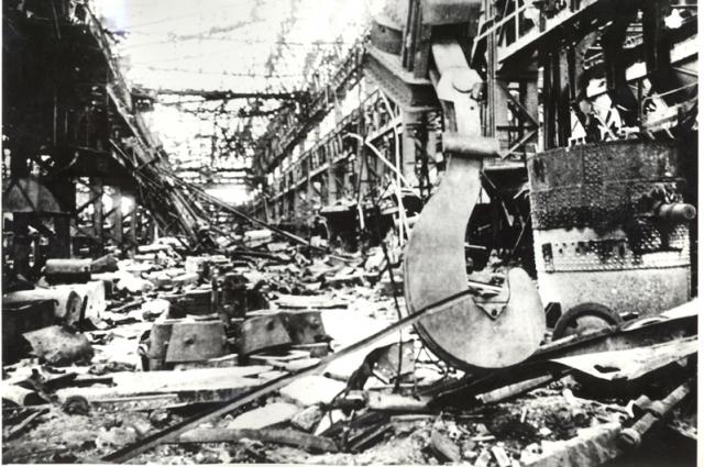 Мартеновский цех после освобождения 1943 года
