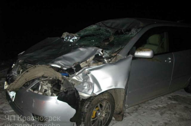 По информации очевидцев, в аварии под Минусинском один погиб, четверо - получили ранения