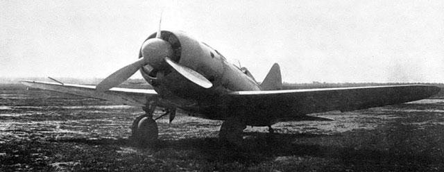 Истребитель И-180-2 (аналогичный тому, на котором разбился Чкалов) во время заводских испытаний в 1939 году.