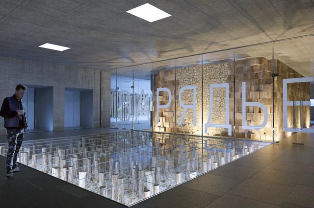 Проект музейного пространства в подземном зале перехода через Москворецкую набережную.