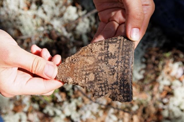 Находка, найденная в  археологическом исследовании в низовьях р.Конды