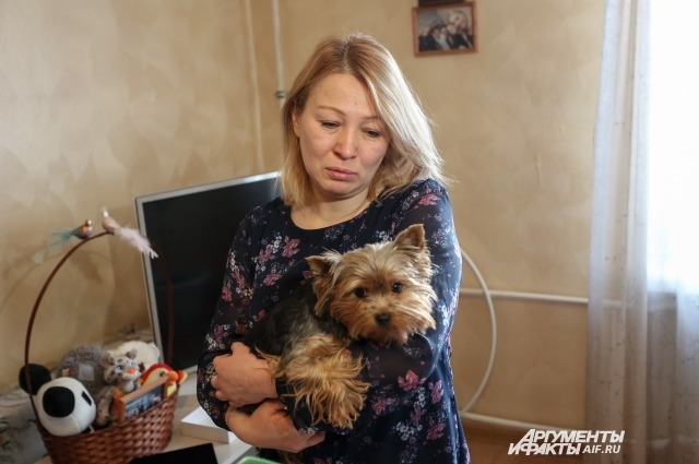Сейчас у мамы Евгении живет ее собака Ева.