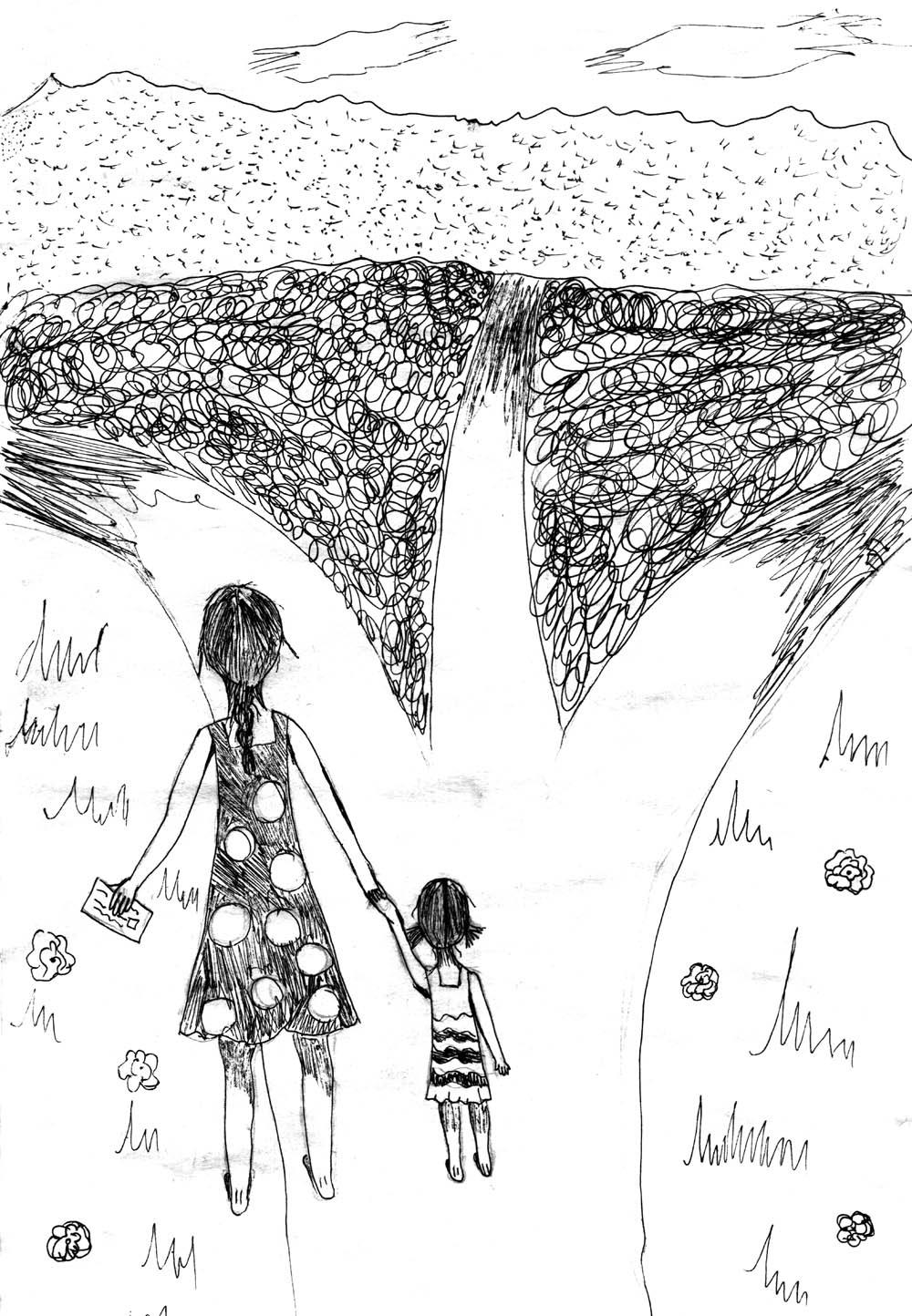 «Святые вдовы войны», Саша Аликина, 10 лет.