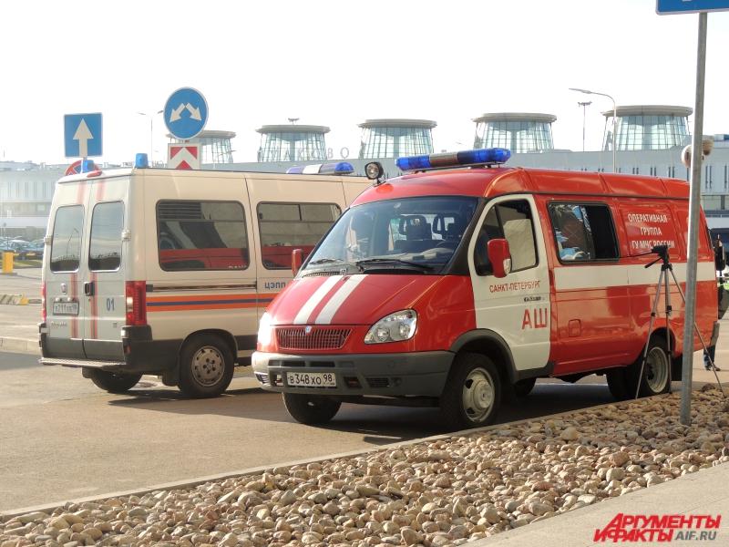 31 октября 2015 года около  аэропорта дежурили сотрудники  МЧС и скорая помощь.