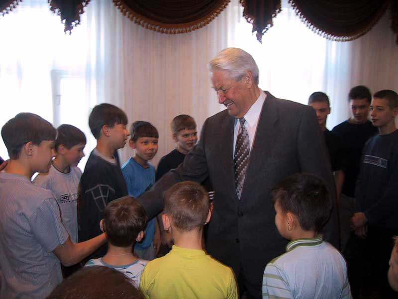Борис Ельцин в Казани