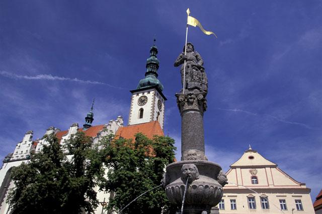 Памятник Яну Жижке. Чехия, Южная Богемия.
