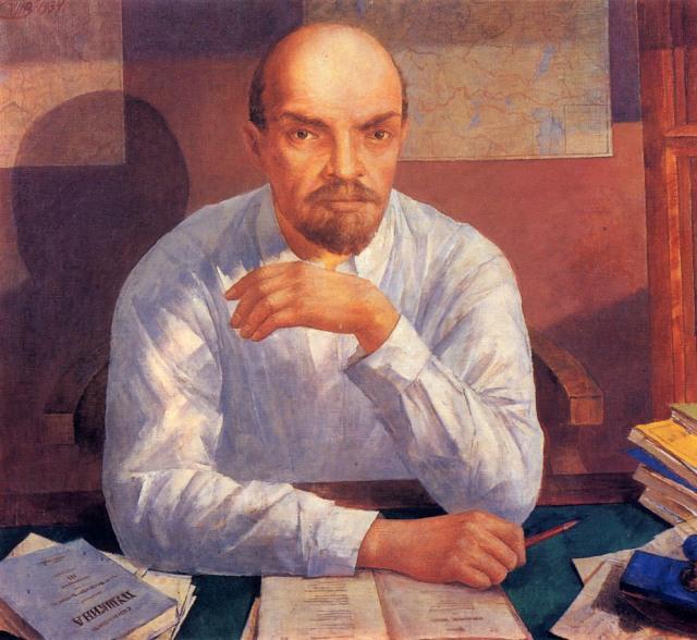 Пожалуй, портрет Ленина у Петрова-Водкина получился самым необычным.
