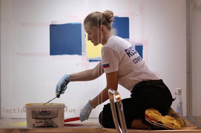 Анастасия Распопова - «золото» в компетенции «Визуальный мерчендайзинг».