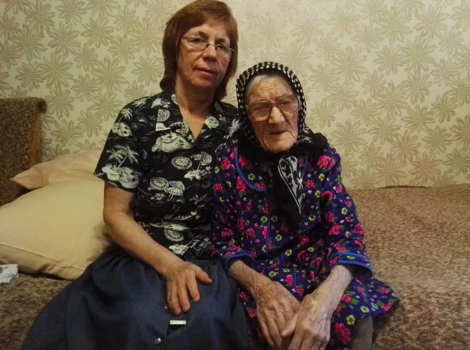 Татьяна с дочерью Раисой.