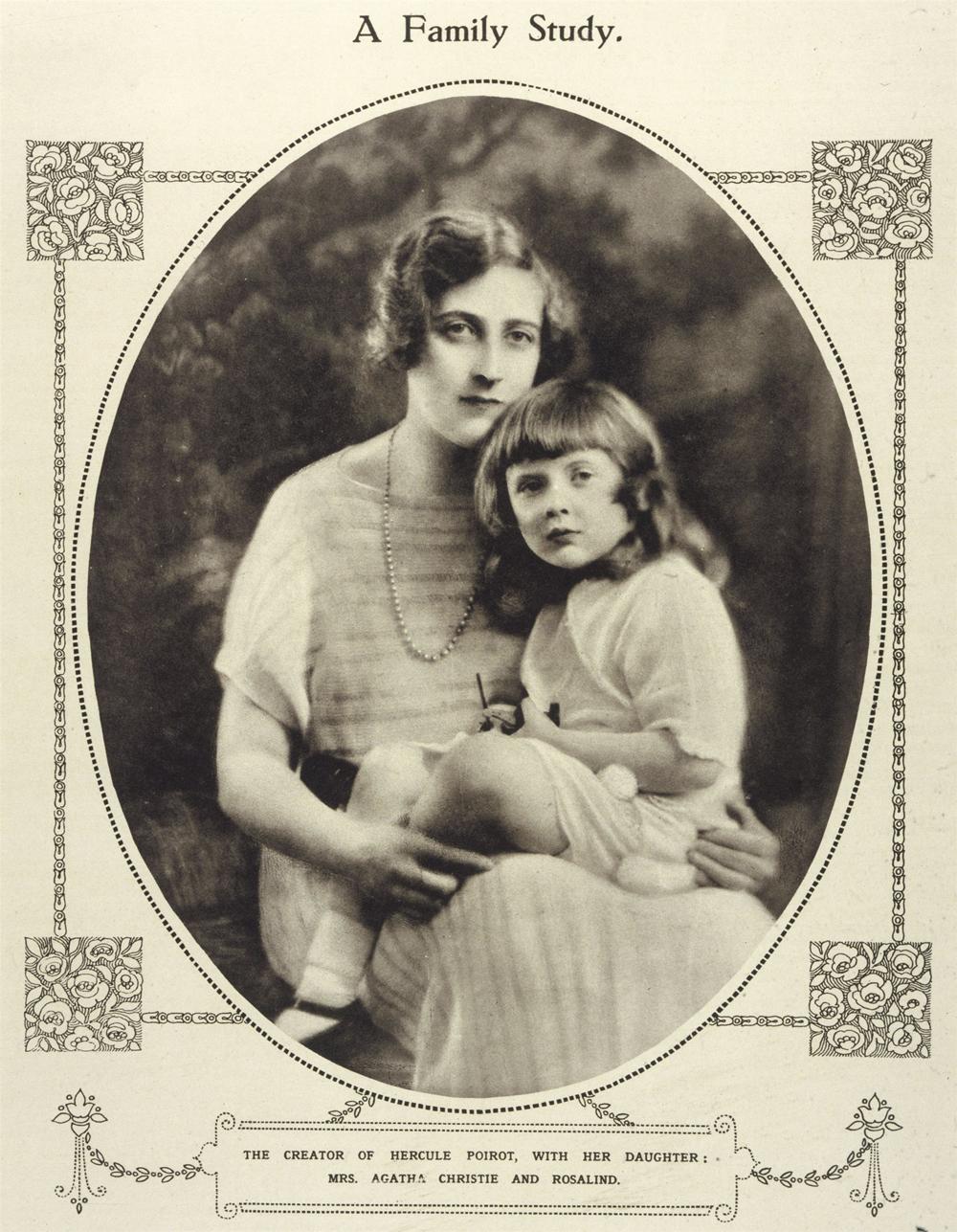 Агата Кристи с дочерью.
