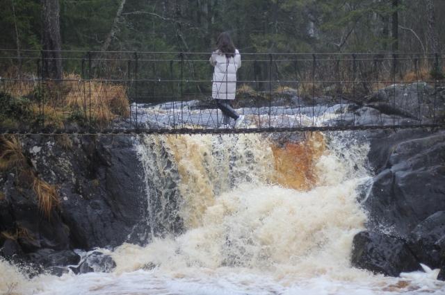 Водопад Ахвенкоски.