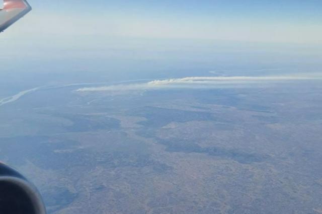 Вид с кабины самолета