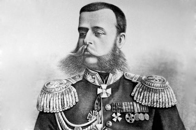 Репродукция рисунка, изображающего участника Русско-турецкой войны 1877-1878 годов генерал-лейтенанта Михаила Дмитриевича Скобелева