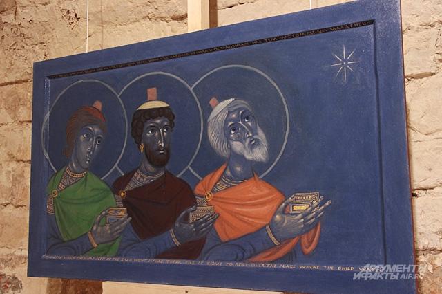 Икона Филиппа Давыдова Волхвы написана специально для выставки