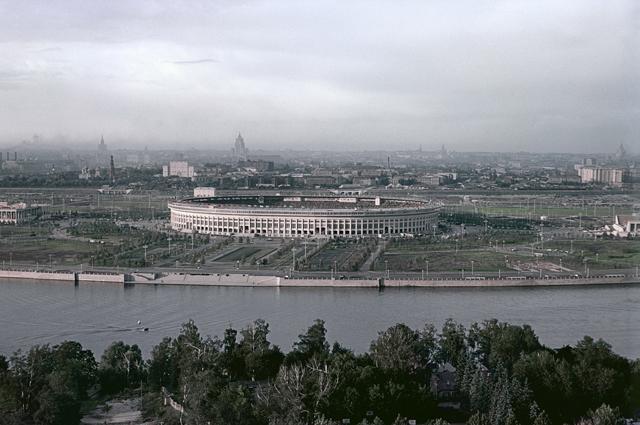 Стадион «Лужники». 1956 год.