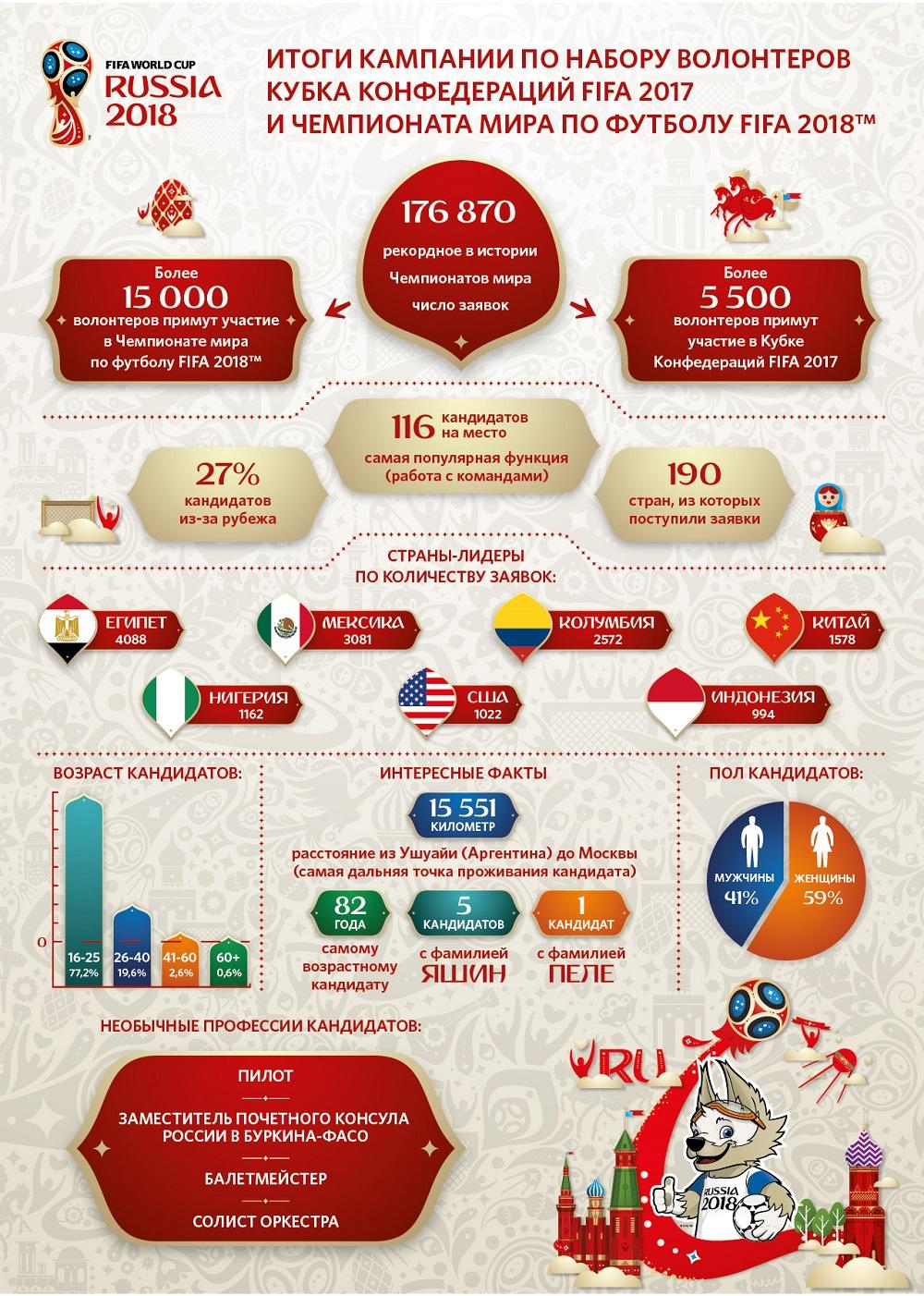 Кампания по набору волонтеров к ЧМ 2018, инфографика