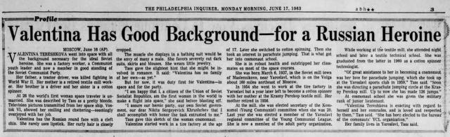 Статья из газеты The Philadelphia Inquirer.