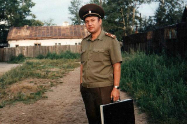 Полковник Валерий Тытенко во время службы в войска.