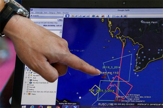 План полёта спасательно-розыскной операции самолёта MH370 Malaysia Airlines