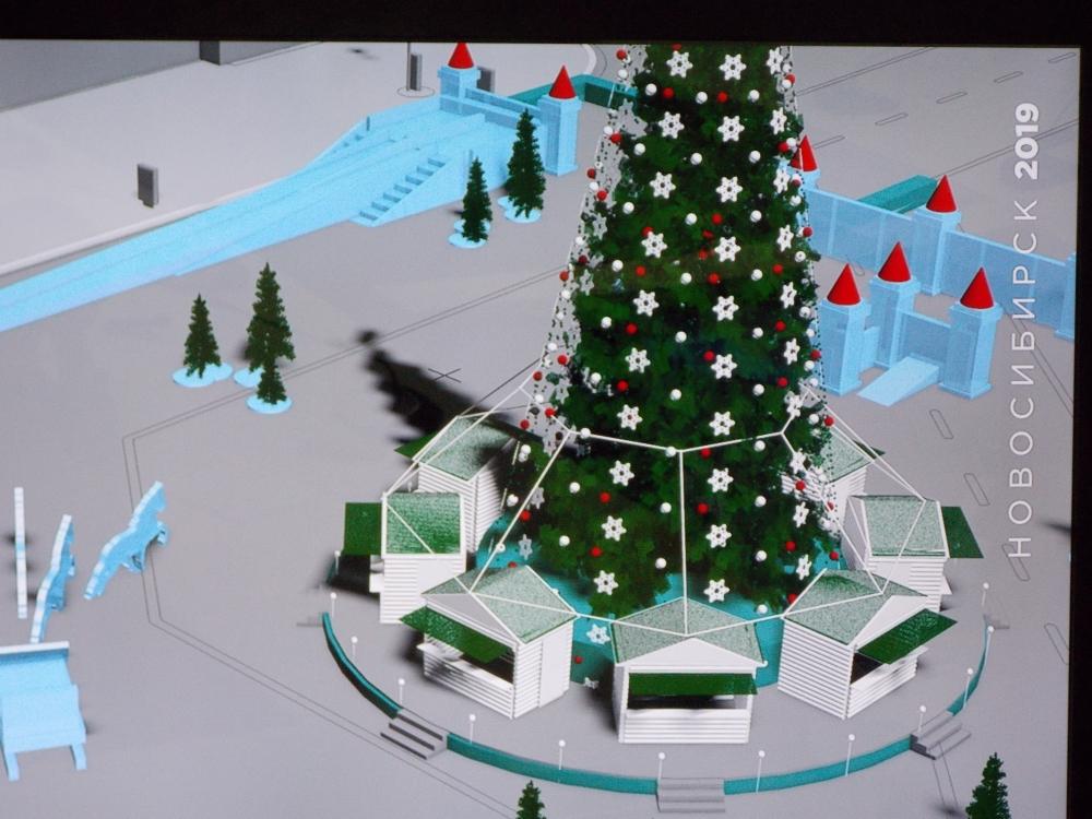 Так будет выглядеть площадь Ленина на новогодние праздники.
